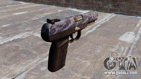 Gun FN Five-seveN Blue Camo for GTA 4 second screenshot