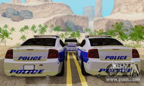 Pursuit Edition Police Dodge Charger SRT8 for GTA San Andreas right view