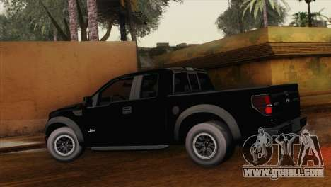 Ford F-150 SVT Raptor 2011 for GTA San Andreas left view