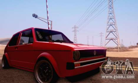 Volkswagen Golf Mk I Punk for GTA San Andreas side view