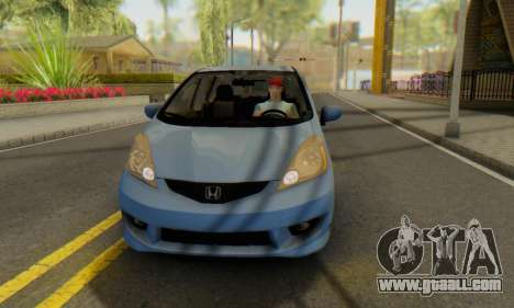 Honda Fit Stock 2009 for GTA San Andreas inner view