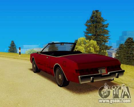 Majestic Convertible for GTA San Andreas left view