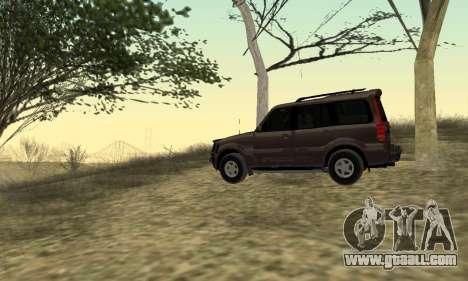 Mahindra Scorpio for GTA San Andreas right view