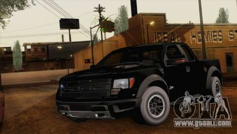 Ford F-150 SVT Raptor 2011 for GTA San Andreas back left view