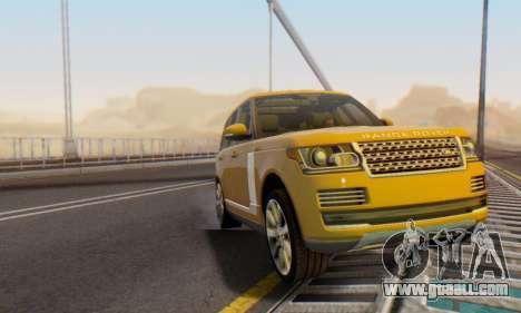 Range Rover Vogue 2014 V1.0 Interior Nero for GTA San Andreas upper view