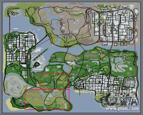 The dense forest v2 for GTA San Andreas seventh screenshot