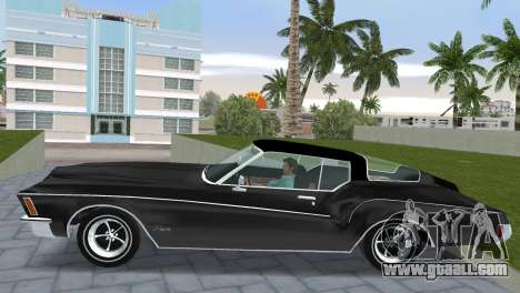 Buick Riviera 1972 Boattail for GTA Vice City back left view