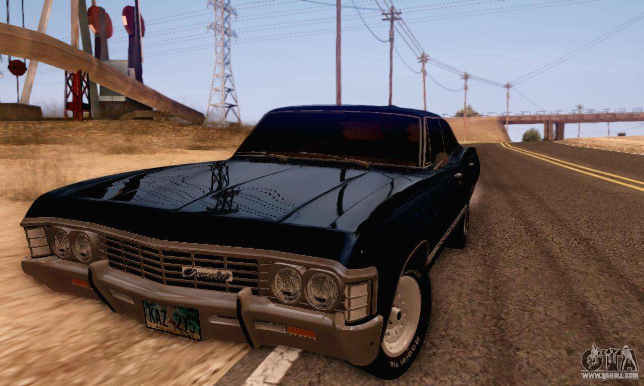 chevrolet impala 1967 supernatural for gta san andreas. Black Bedroom Furniture Sets. Home Design Ideas