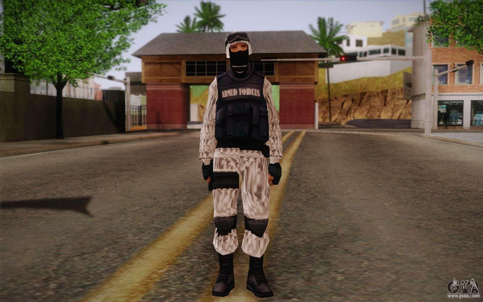 SWAT Snow Camo for GTA San Andreas