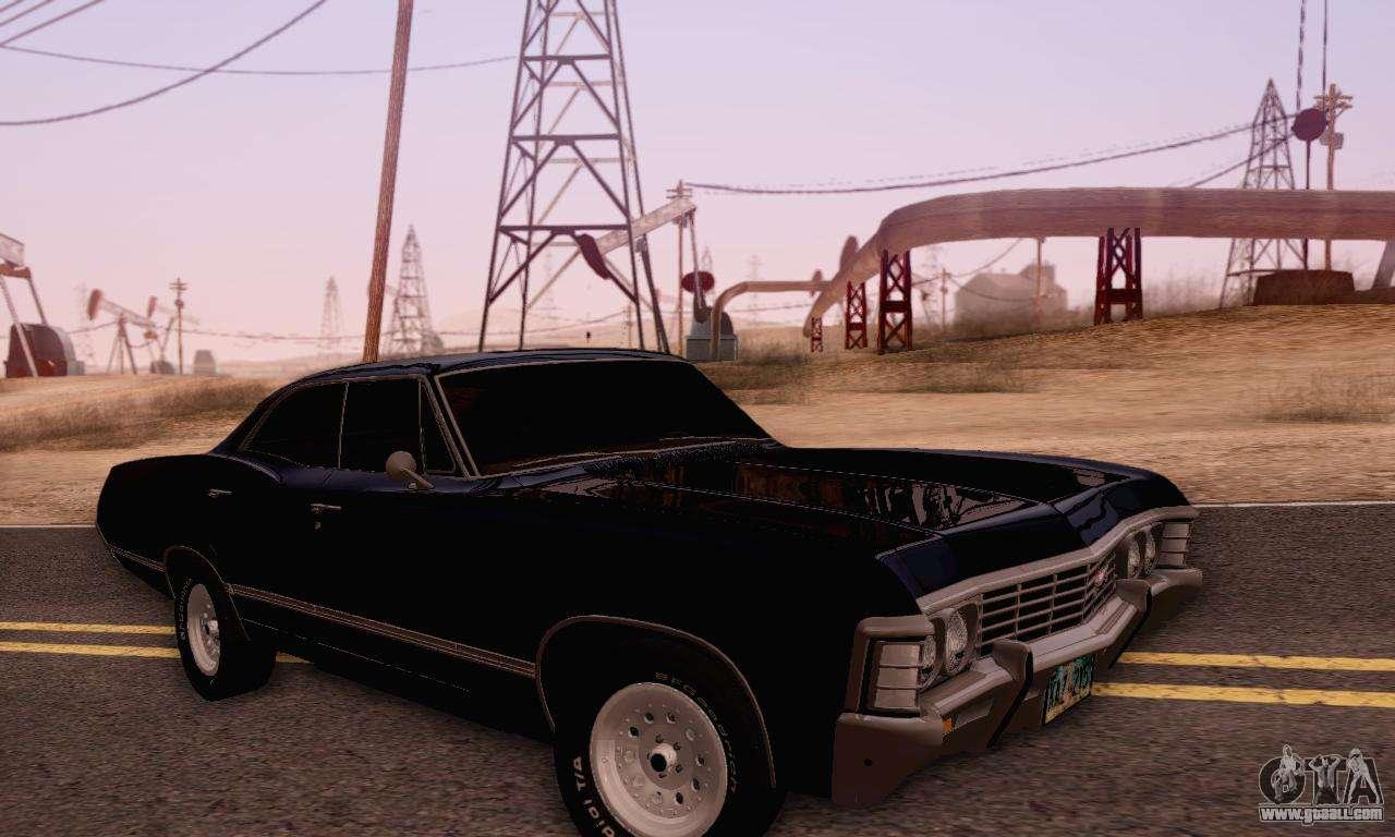 Chevrolet impala 4 door hardtop 1963 for gta san andreas - Chevrolet Impala 1967 Supernatural For Gta San Andreas