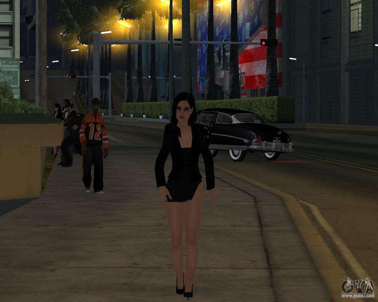 Black Dressed Girl For Gta San Andreas-7070