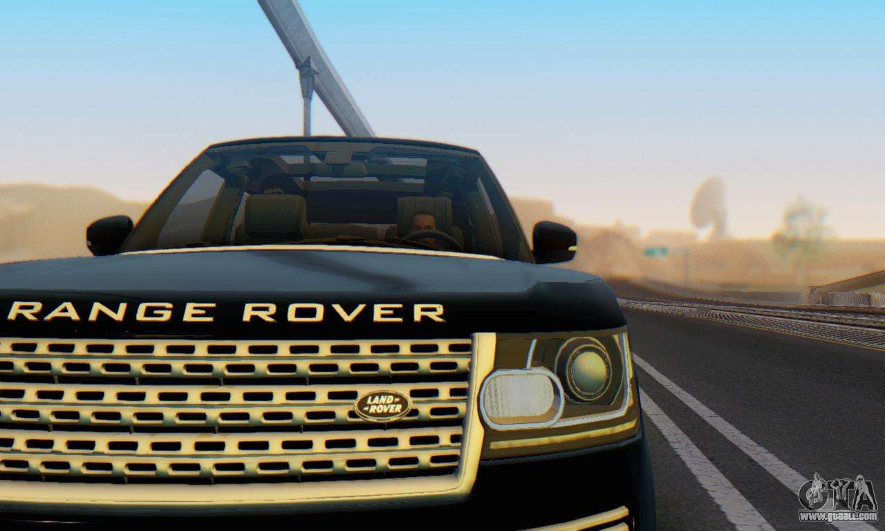 range rover vogue 2014 v1 0 interior nero for gta san andreas. Black Bedroom Furniture Sets. Home Design Ideas