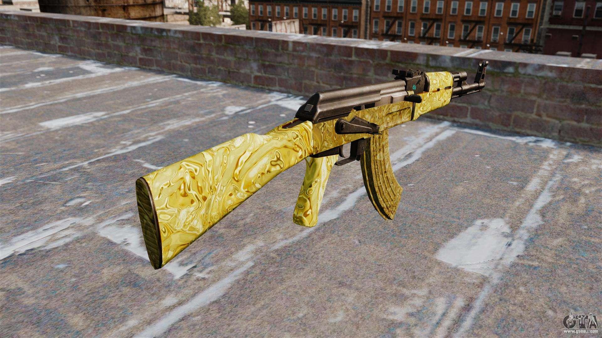 The AK 47 Gold For GTA 4 Second Screenshot