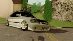 Honda Civic ek Coupe Hellaflush for GTA San Andreas