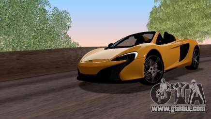 McLaren 650S Spyder 2014 for GTA San Andreas