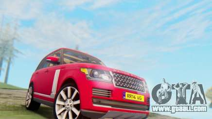 Range Rover Vogue 2014 V1.0 UK Plate for GTA San Andreas