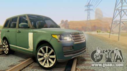 Range Rover Vogue 2014 V1.0 Interior Nero for GTA San Andreas