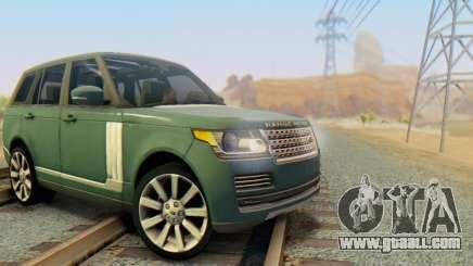Range Rover Vogue 2014 V1.0 Interior Nero for GTA San Andreas