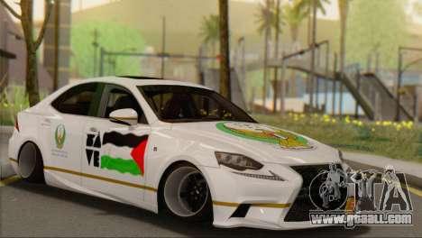 Lexus IS350 FSport 2014 Hellaflush for GTA San Andreas