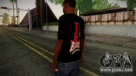 Bloods T-Shirt for GTA San Andreas second screenshot