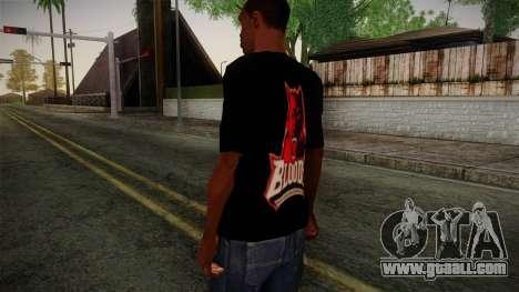 Bloods T-Shirt for GTA San Andreas second screenshot