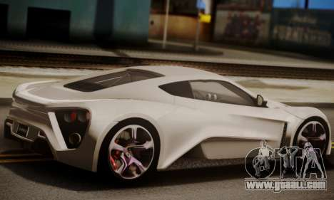 Zenvo ST SHDru Tuning for GTA San Andreas left view