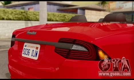Lampadati Felon GT 1.1 for GTA San Andreas back view