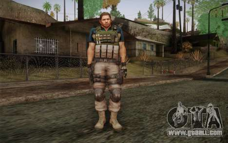 Chris Redfield from Resident Evil 6 for GTA San Andreas