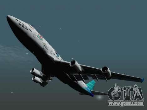 Boeing 747-400 Garuda Indonesia for GTA San Andreas right view