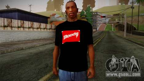 Bloods T-Shirt for GTA San Andreas