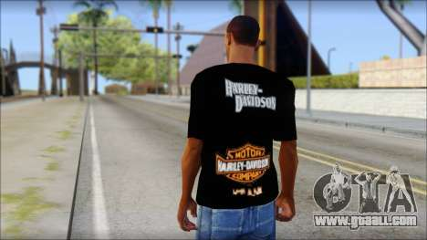 Harley Davidson Black T-Shirt for GTA San Andreas second screenshot