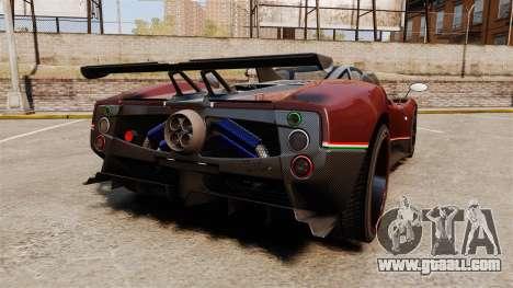 Pagani Zonda Tricolore for GTA 4 back left view