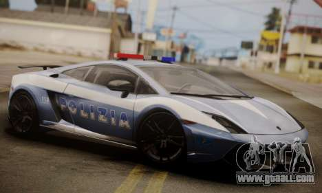 Lamborghini Gallardo LP 570-4 2011 Police v2 for GTA San Andreas