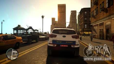 Kia Sportage Israel Police car (Mishtara) for GTA 4 right view