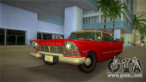 Plymouth Savoy Club Sedan 1957 for GTA Vice City