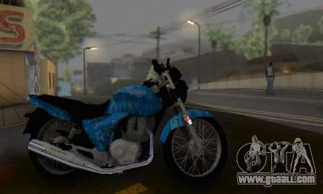Yamaha YBR Blue Star for GTA San Andreas
