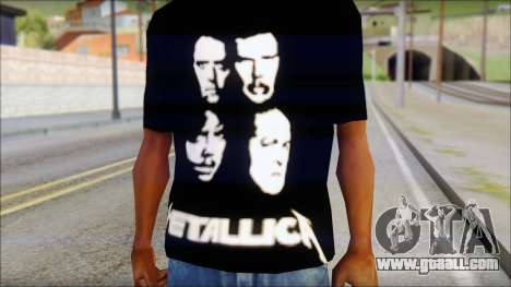Metallica T-Shirt for GTA San Andreas third screenshot