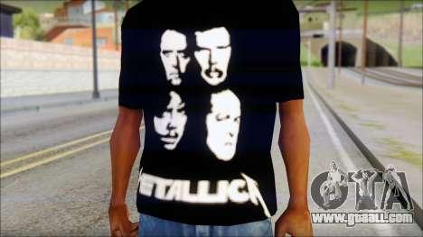 Metallica T-Shirt for GTA San Andreas third screenshot