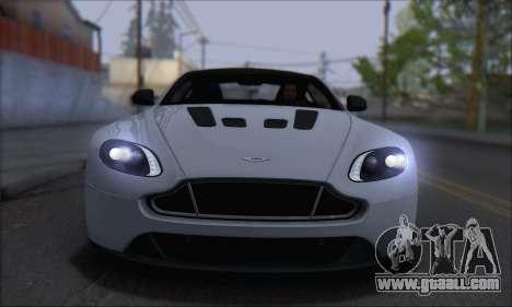 Aston Martin V12 Vantage S 2013 for GTA San Andreas back left view