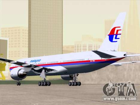 Boeing 777-2H6ER Malaysia Airlines for GTA San Andreas engine