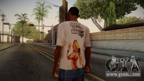 GTA 5 Hot Girl T-Shirt for GTA San Andreas second screenshot