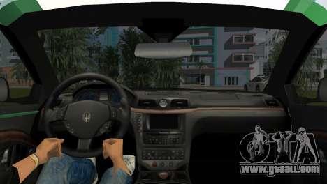 Maserati Granturismo Police for GTA Vice City back left view