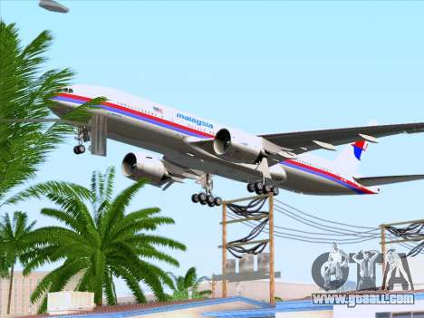 Boeing 777-2H6ER Malaysia Airlines for GTA San Andreas bottom view