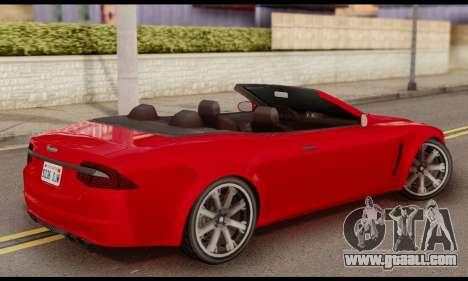 Lampadati Felon GT 1.1 for GTA San Andreas left view