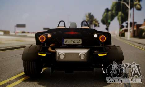 KTM X-Bow R 2011 for GTA San Andreas bottom view