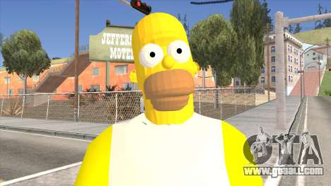 Homer Simpson Skin for GTA San Andreas third screenshot
