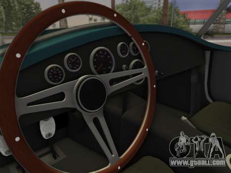 Shelby Cobra for GTA Vice City back left view