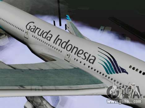 Boeing 747-400 Garuda Indonesia for GTA San Andreas back left view
