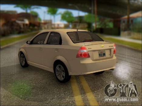Chevrolet Aveo 2007 for GTA San Andreas left view