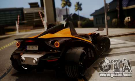 KTM X-Bow R 2011 for GTA San Andreas back left view